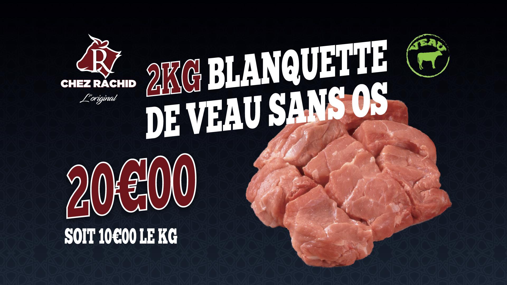 2KG Blanquette de veau sans os